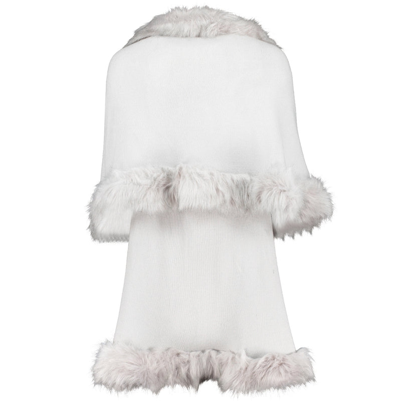 Knitted Luxury Faux Fur Cape (6152218640560)
