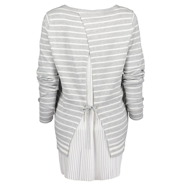 Pleated Open Back Jumper
