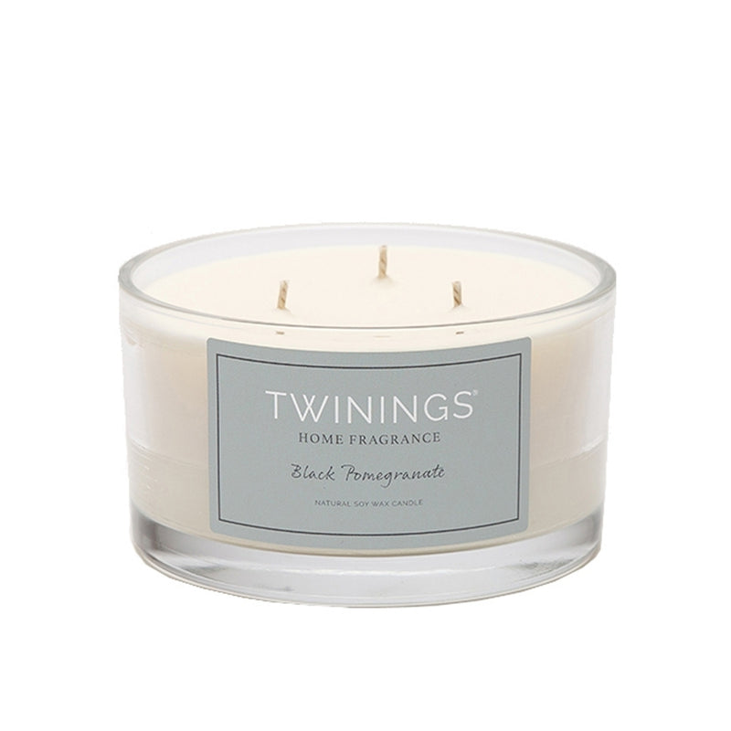 Black Pomegranate Three Wick Candle