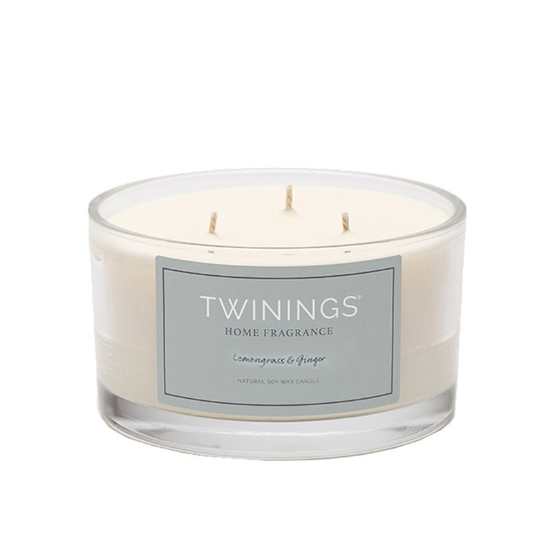 Lemongrass & Ginger Three Wick Candle (6152308228272)