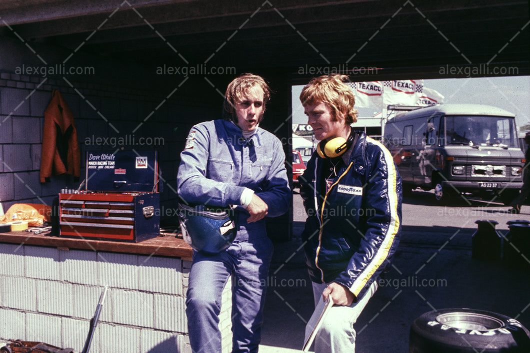 F1 1974 Hans-Joachim Stuck & Max Mosley - March 741 - 19740030