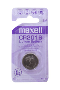 MAXELL CR2016 3V COIN BATTERY CARD PACK  - 10'S BOX
