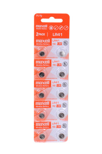 MAXELL LR41 CALCULATOR BATTERY - (PACK OF 10 )