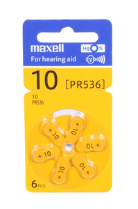MAXELL P10 Hearing Aid Battery 100% ORIGINAL