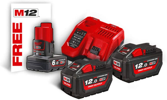 KIT BATTERIE-ENERGY KIT HIGH OUTPUT 18V BATTERIA 12V EXTRA-M18 HNRG-122