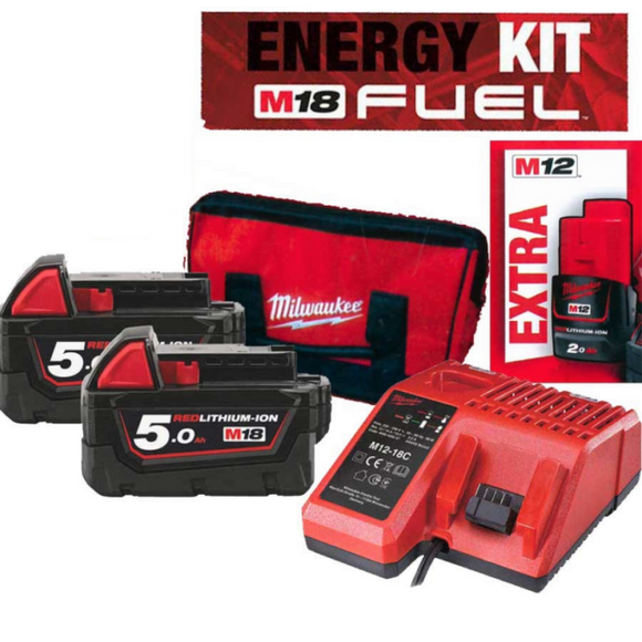 KIT BATTERIE-ENERGY KIT 18V BATTERIA 12V EXTRA-M18 NRG-502