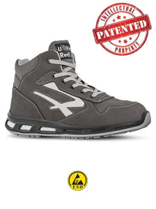 scarpa antinfortunistica upower linea red lion modello infinity con tomaia in pelle nabuk naturale