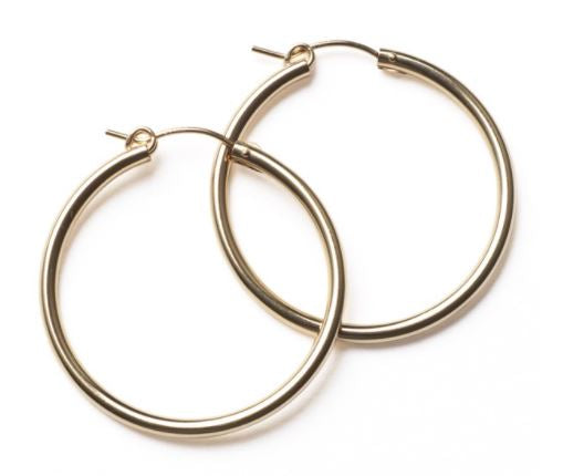 30mm Polished Gold-Filled Hoop Earrings