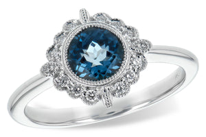 London Blue Topaz Flow Filigree Ring