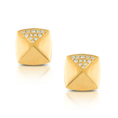 Deco Diamond Pave Studs
