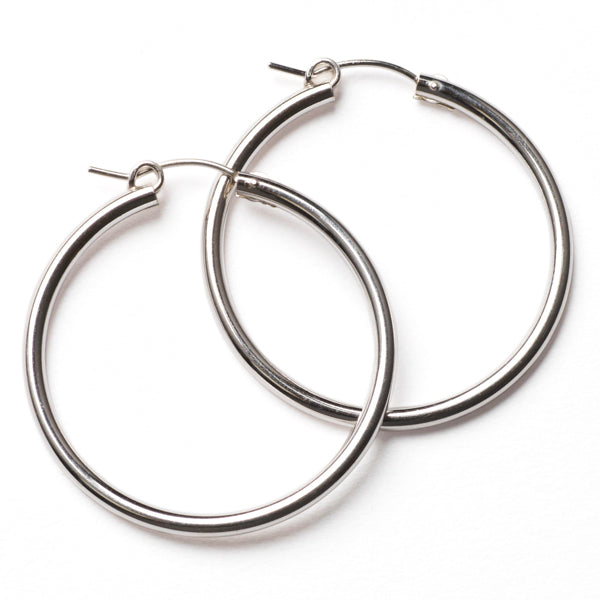 Southern Gates Sterling Silver Round Hoops