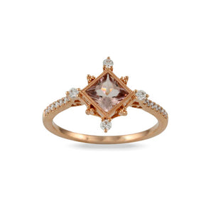 Little Bird Rose Gold Diamond and Morganite Ring
