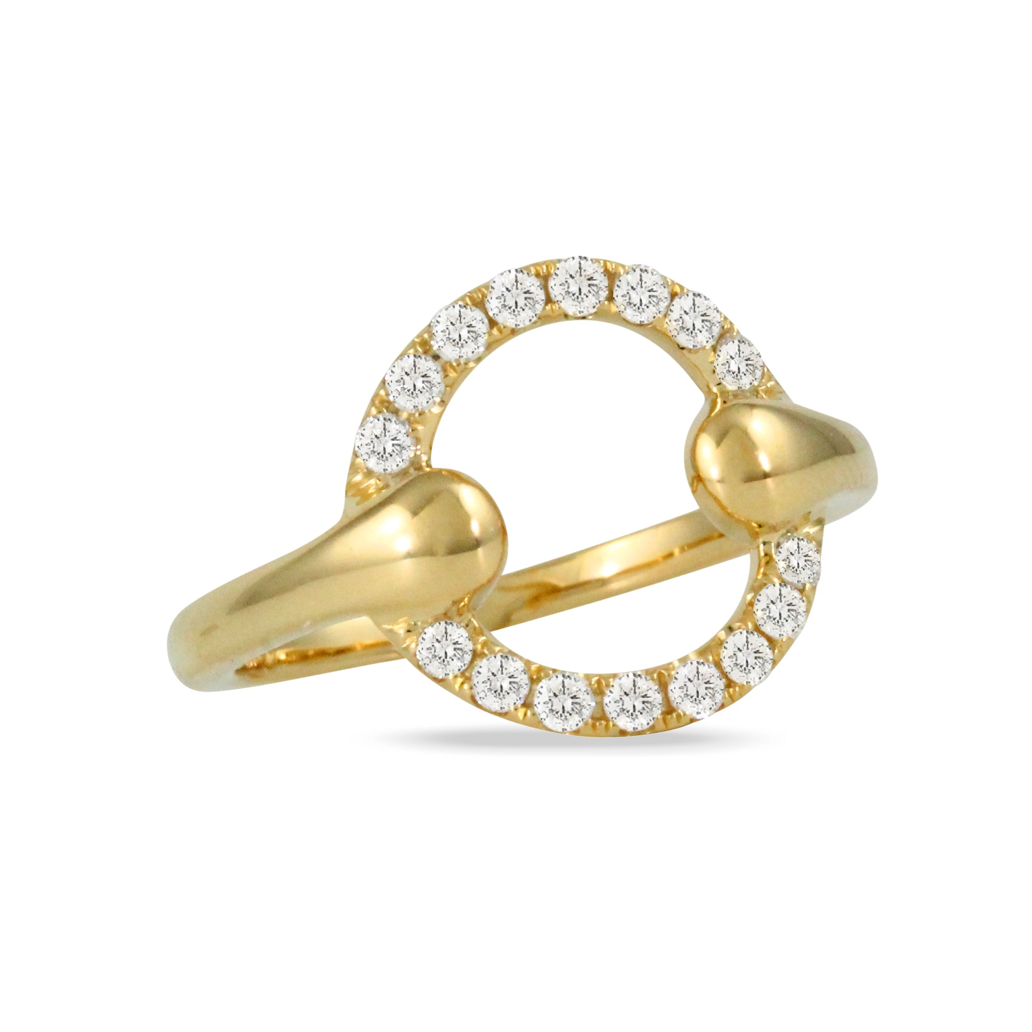 Equestrian Gold and Diamond Ring
