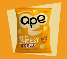 Load image into Gallery viewer, APE Puffs 100% Natural Coconut Puffs 24 x 25g - Really Cheesy