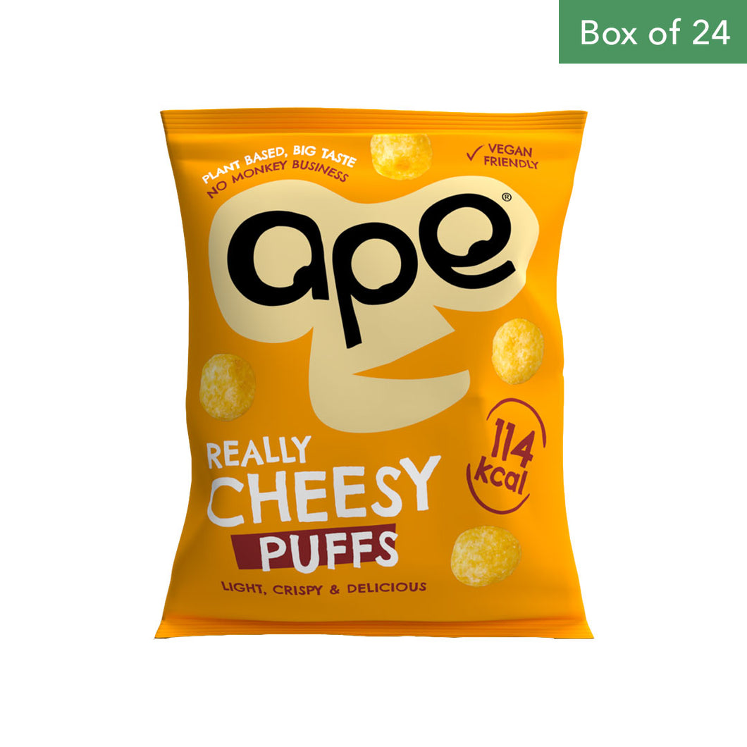 APE Puffs 100% Natural Coconut Puffs 24 x 25g - Really Cheesy