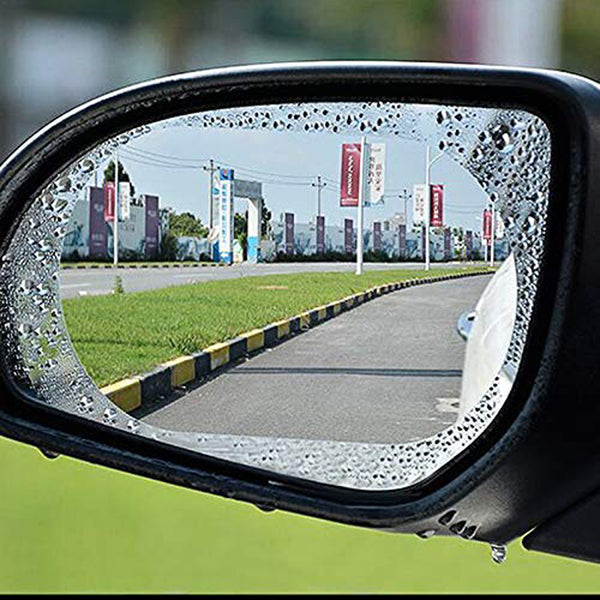 Car Rear View Mirror Anti Fog Rainproof Waterproof Protective Film (2 Pcs)