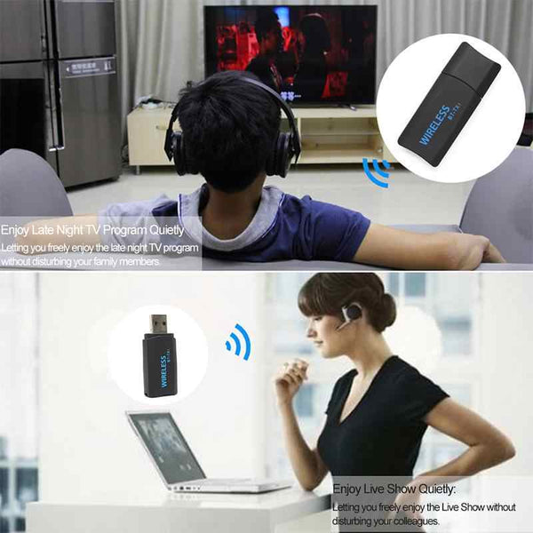 Jogger BT-TX1 USB Wireless Bluetooth Transmitter Portable Music Stereo Audio Receiver Adapter for TV Bluetooth Headphones/Speakers