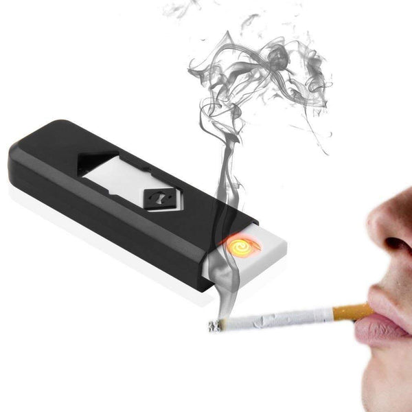 USB Electronic Windproof Rechargable Flameless Cigarette Lighter