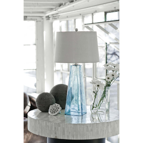 Glass Table Lamp (Baha Blue)