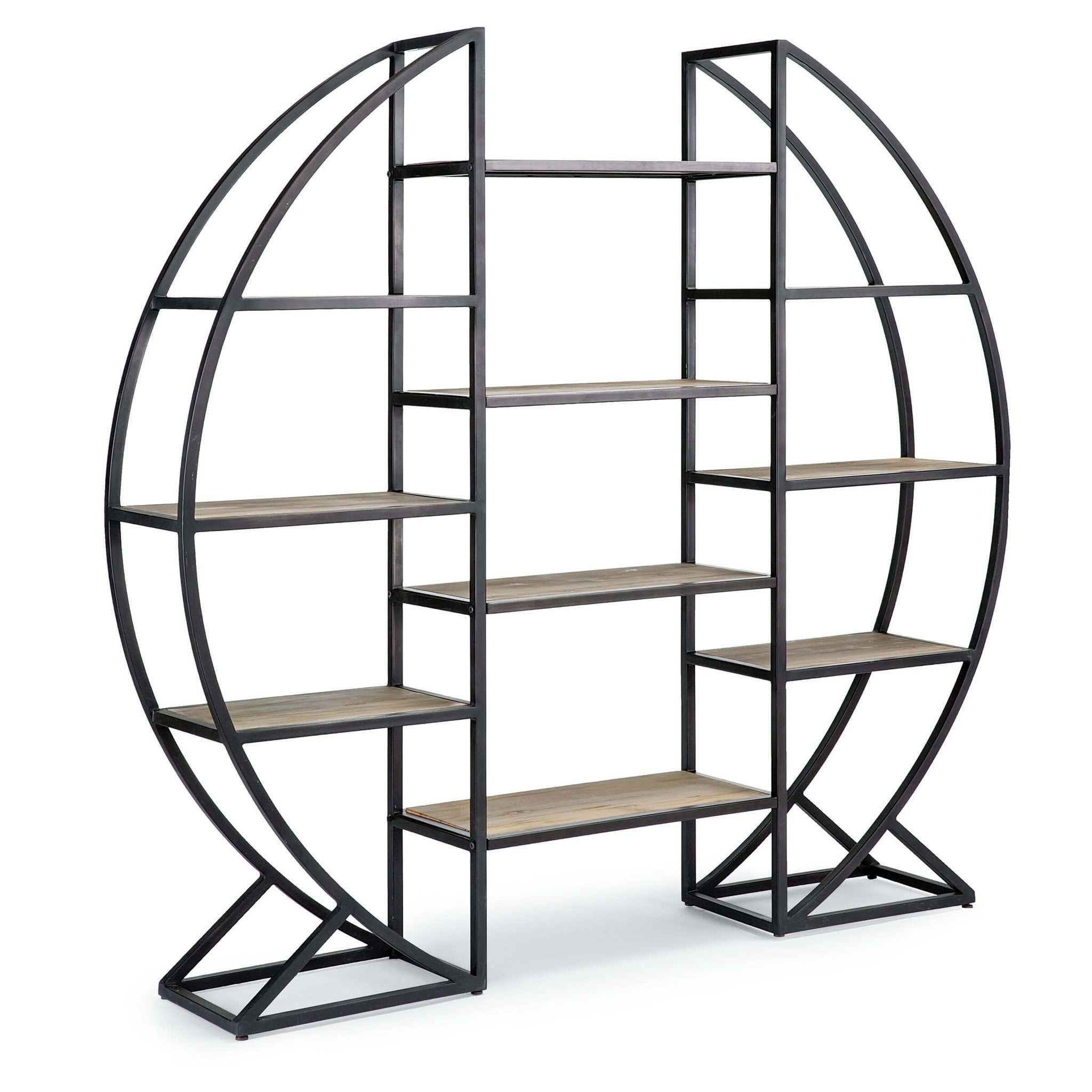 Hoop Etagere (Blackened Iron)
