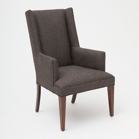Straight Wing Arm Chair-Alvaro Grey