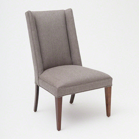 Straight Wing Side Chair-Margo Pewter