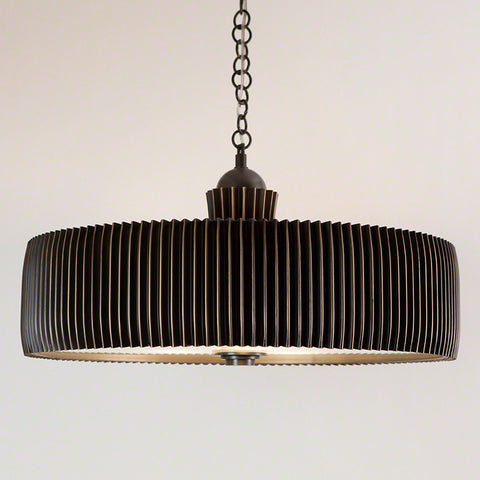 Crimp Chandelier-Bronze
