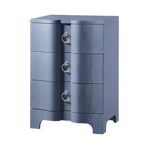 Bardot 3-Drawer Side Table, Navy Blue