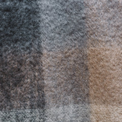 Charcoal, White & Mink Check Mohair
