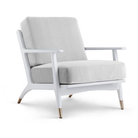 Hart Lounge Chair (Covers Sold Separately), White