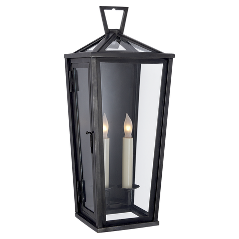 Darlana Tall 3/4 Wall Lantern in Bronze