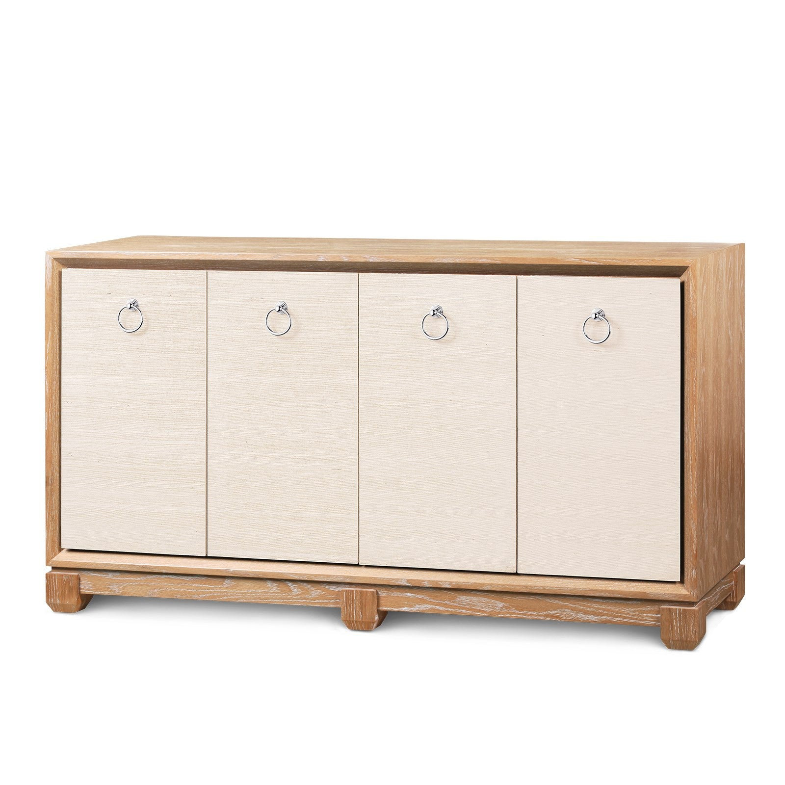 Arthur 4-Door Cabinet, Natural