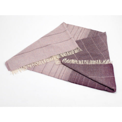 Mauve Ombre Lambswool Throw