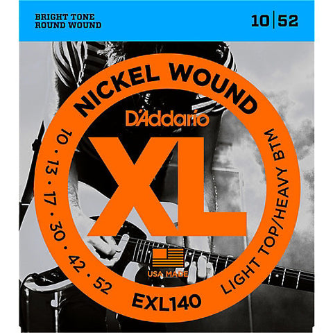 D'Addario EXL140 Nickel Wound Electric Guitar String Set, Light Top/Heavy Bottom