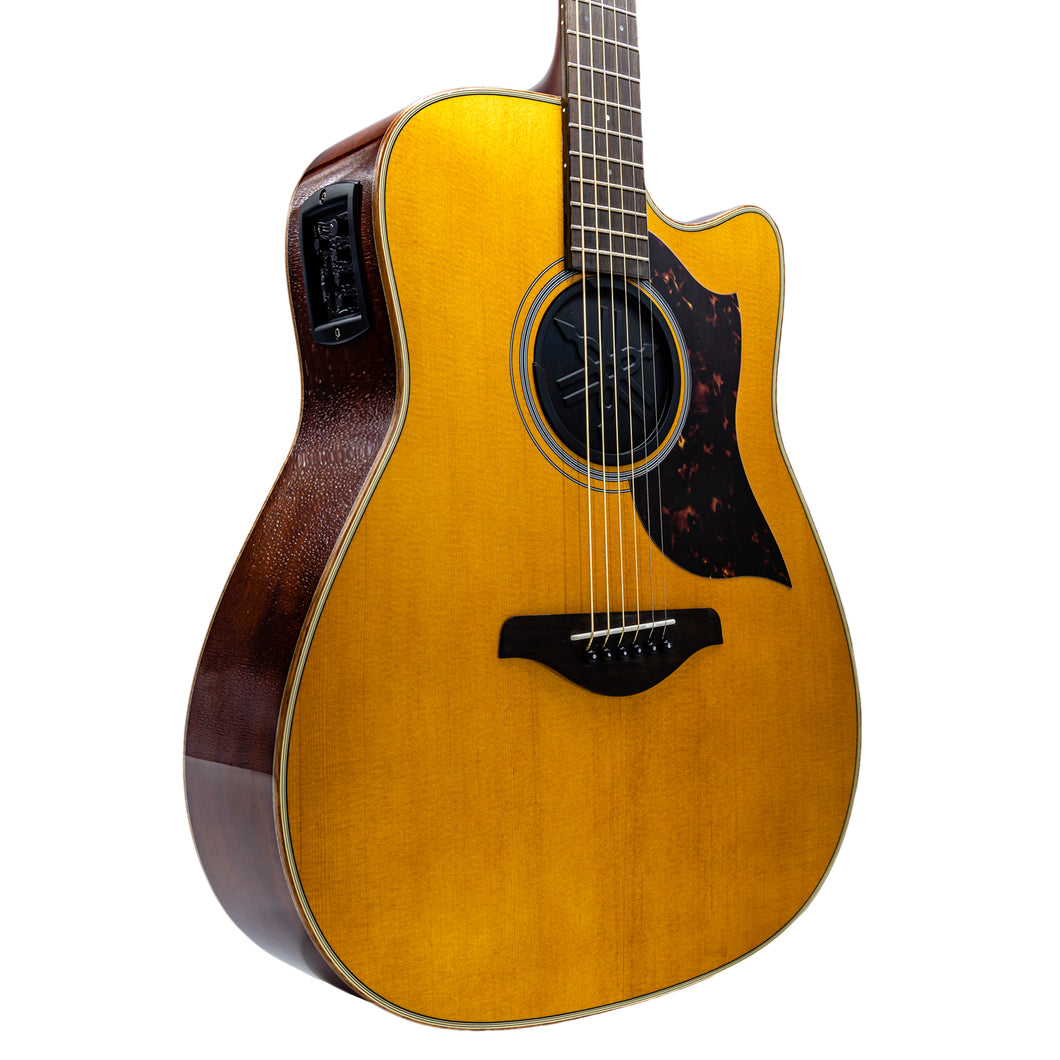 Yamaha A1M VN Folk Cutaway Acoustic-Electric Guitar