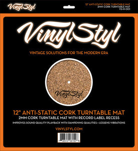 Vinyl Styl 12″ Anti-Static Cork Turntable Mat