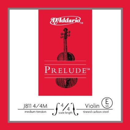 D'Addario J811 4/4M Prelude Violin E String Medium Scale