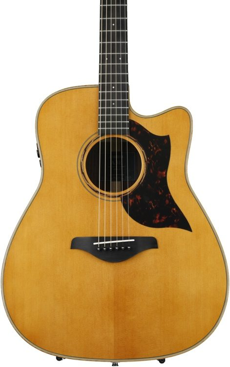 Yamaha A3R VN Dreadnought Cutaway Acoustic-Electric Guitar - Vintage Natural