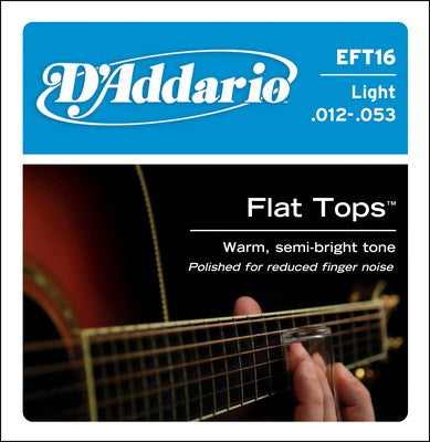 D'Addario Phosphor Bronze Flat Top Acoustic Guitar Strings Light EFT16