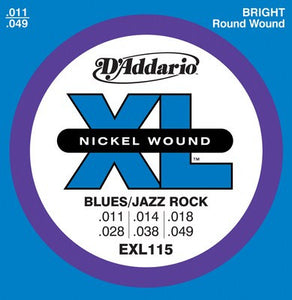 D'Addario EXL115 XL Nickel Blues/Jazz Electric Guitar Strings