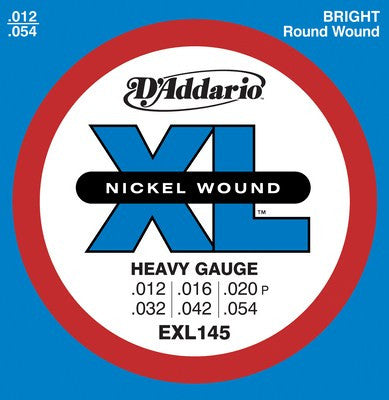 D'Addario Nickel Wound Electric Guitar Strings Heavy EXL145