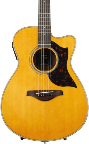 Yamaha AC1R VN Concert Cutaway Acoustic-Electric Guitar - Vintage Natural
