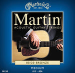 Martin 80/20 Bronze Acoustic Guitar Strings Medium M150