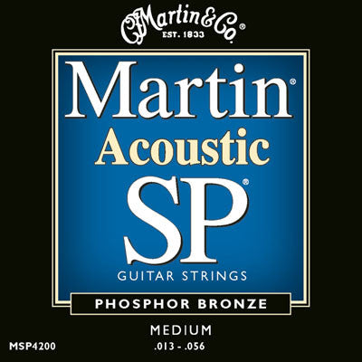 Martin Phosphor Bronze SP Acoustic Guitar Strings Medium MSP4200