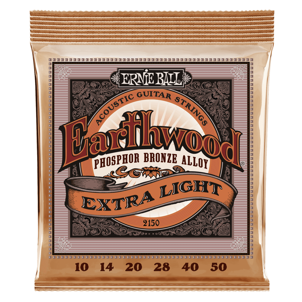 Ernie Ball Earthwood Phosphor Bronze Acoustic Guitar Strings 10-50 Gauge