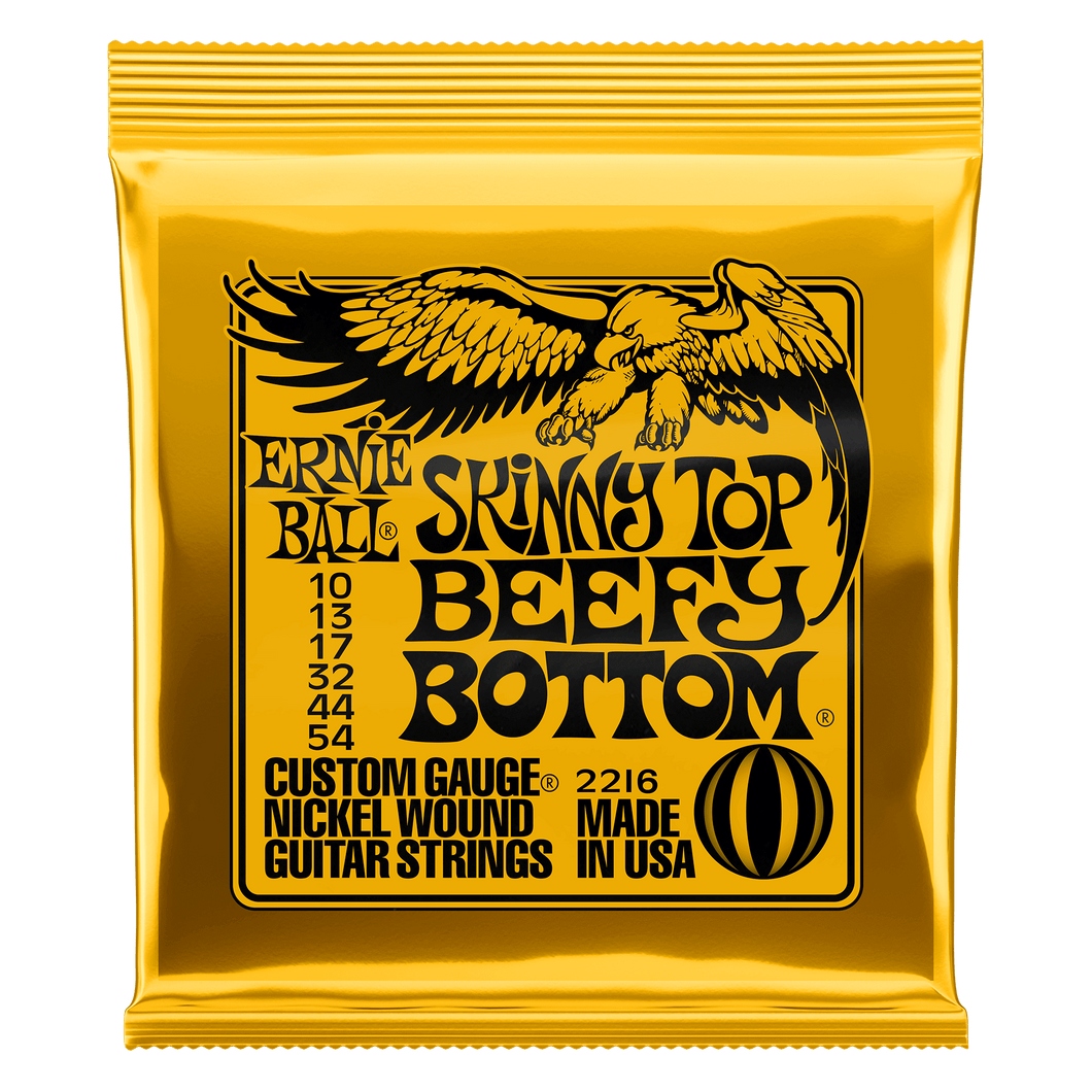 Ernie Ball Skinny Top Beefy Bottom Slinky Nickel Wound Electric Guitar Strings 10 - 54 Gauge