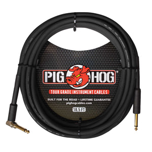 "Pig Hog Instrument Cable 1/4"" to 1/4"" Right Angle"