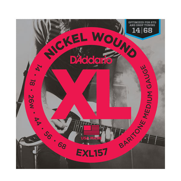 D'Addario EXL157 Nickel Wound Baritone Electric Guitar Strings in Medium