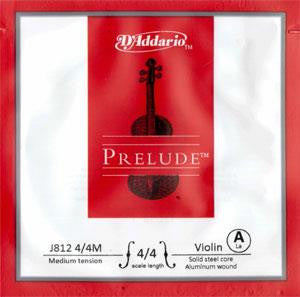 D'Addario J812 4/4M Prelude Violin A String Medium Scale