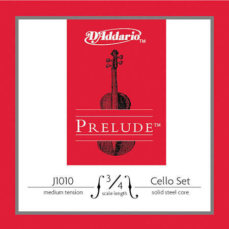 D'Addario Prelude J1010 3/4M Cello Strings Set